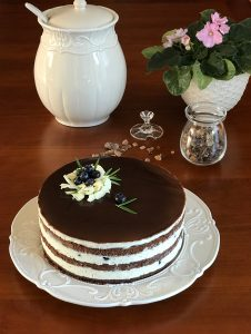 cokoladovy dort zrcadlova poleva boruvky