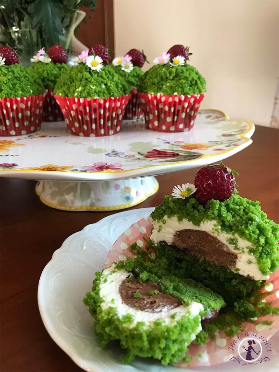 mechove cupcake kosicky zelena