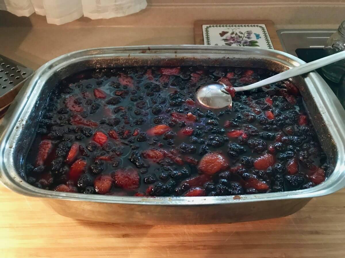 Pečené ovoce upečené