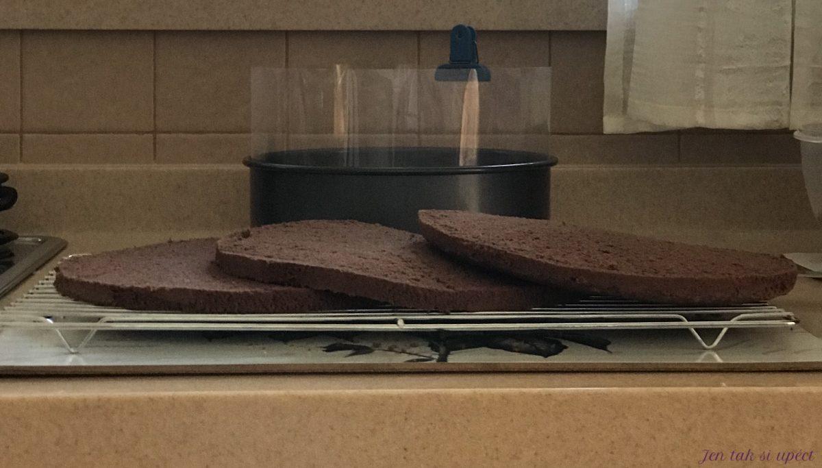 Čokoládový dort prokroj 2