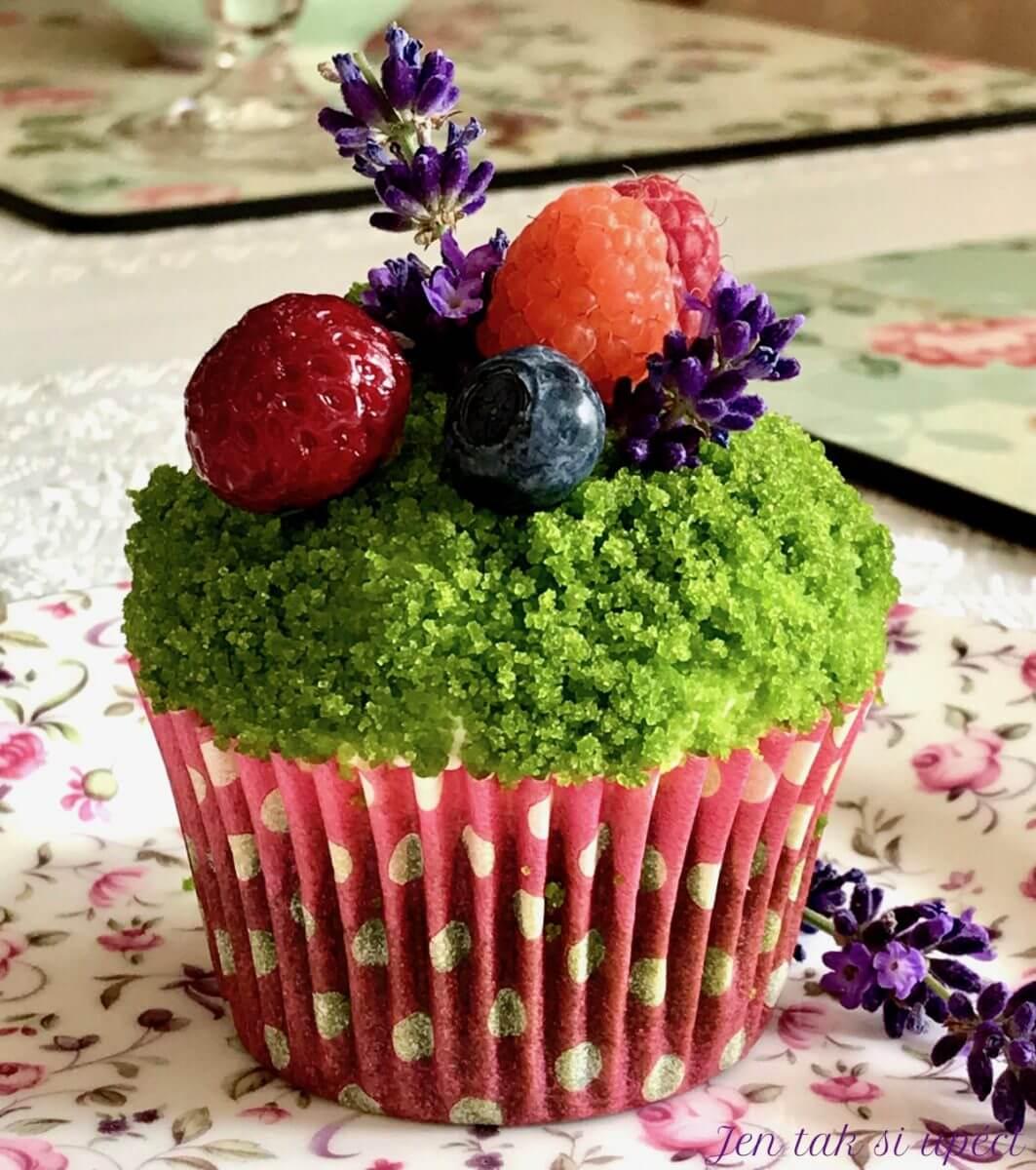 Mechový cupcake poslední foto článku