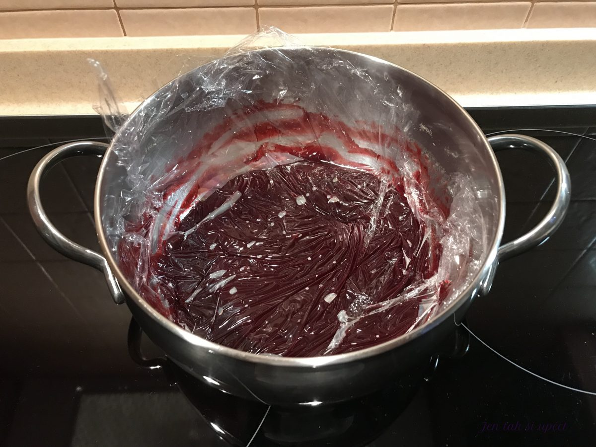 Ostružinová roláda ovocný extrakt chlazení