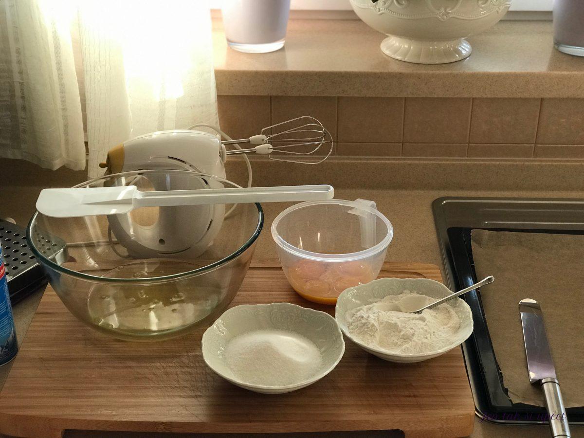 Ostružinová roláda příprava těsta