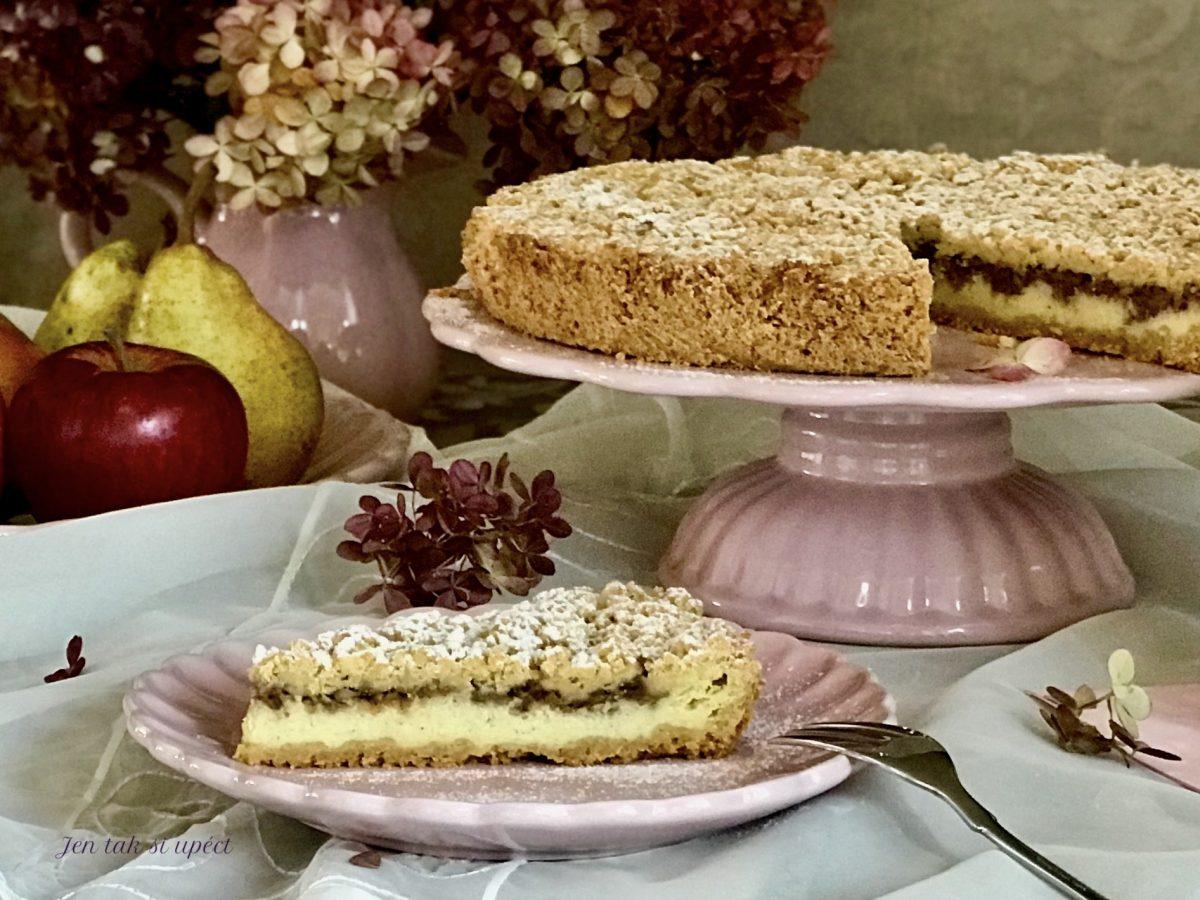 Křehký koláč s philadelphií a jablky