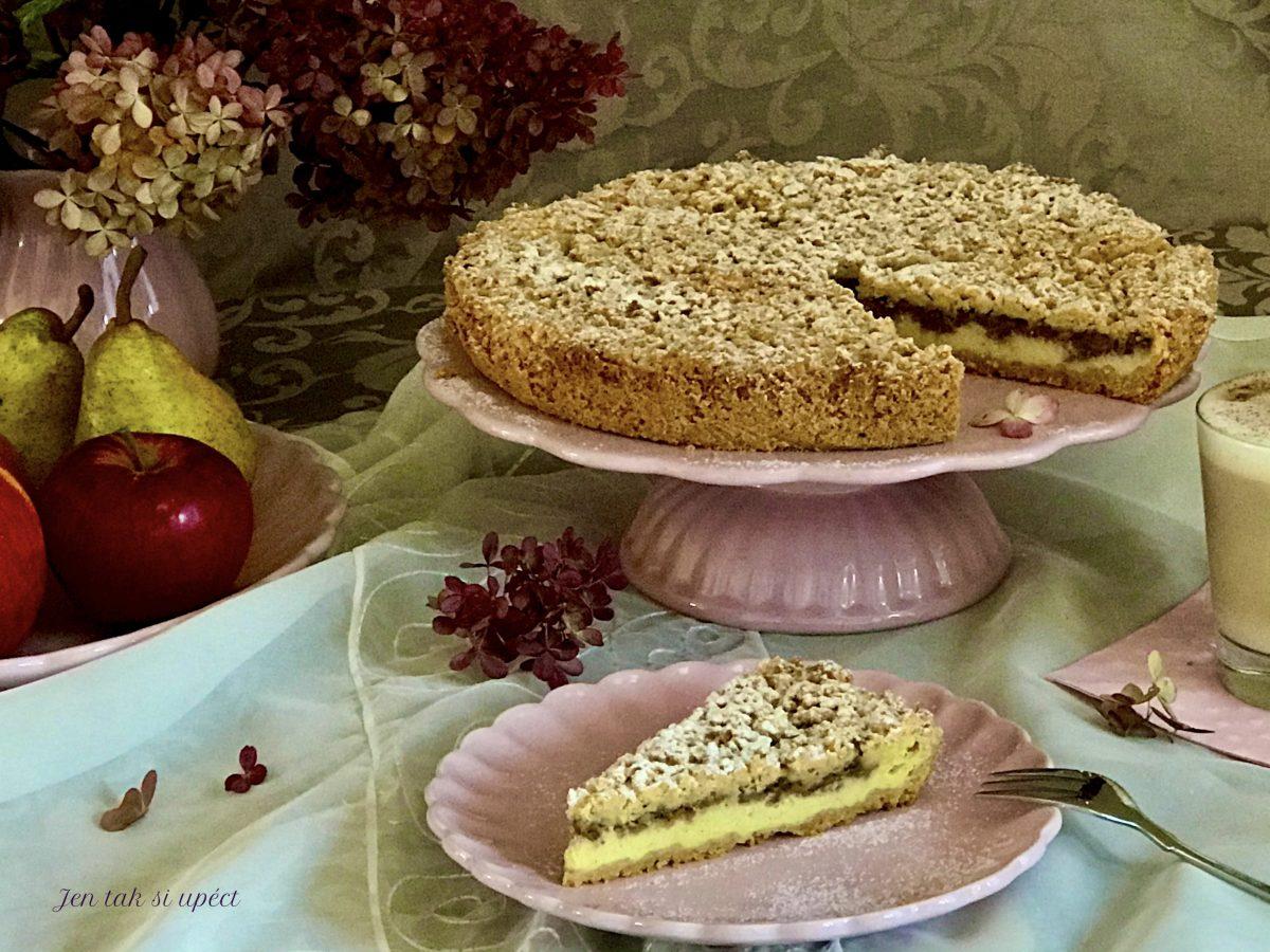 Křehký koláč s philadelphií a jablky pilot2