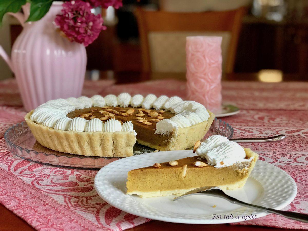 Pumpkin pie detail řezu