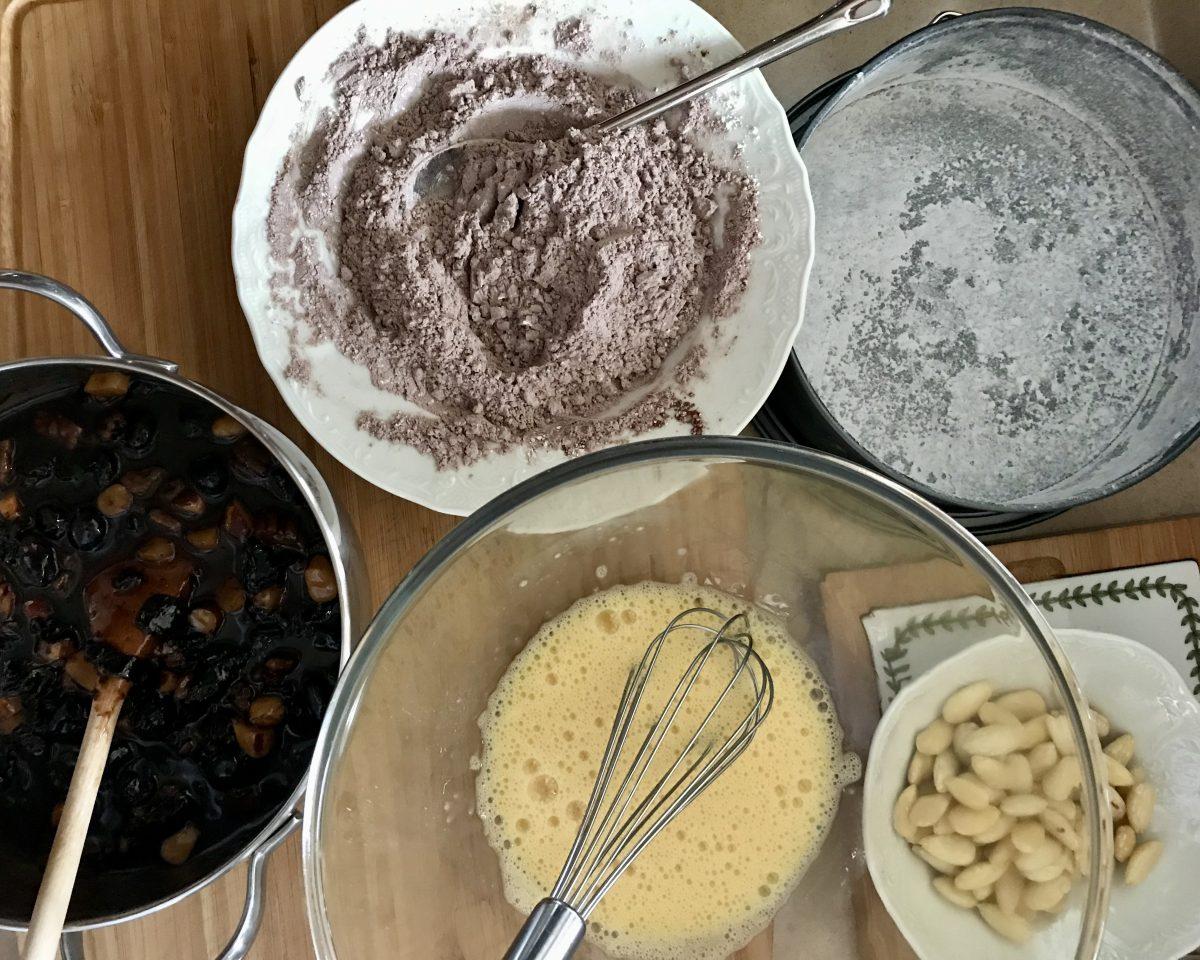 Christmas cake příprava těsta 1