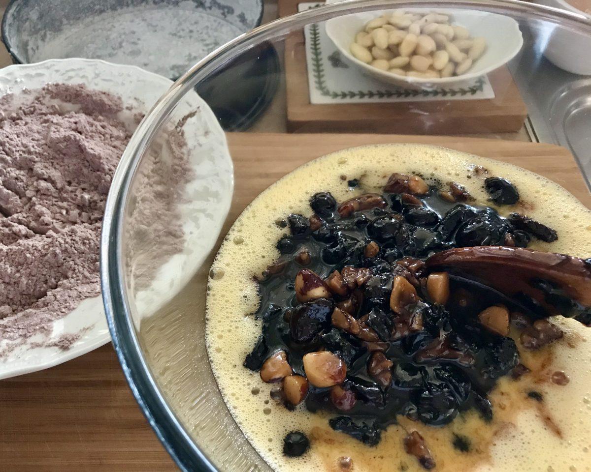 Christmas cake příprava těsta 2
