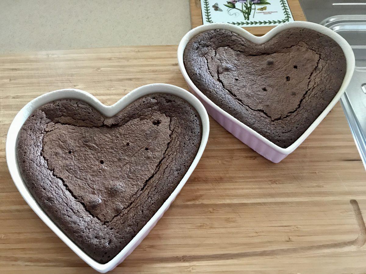 Brownies upečené těsto větší forma