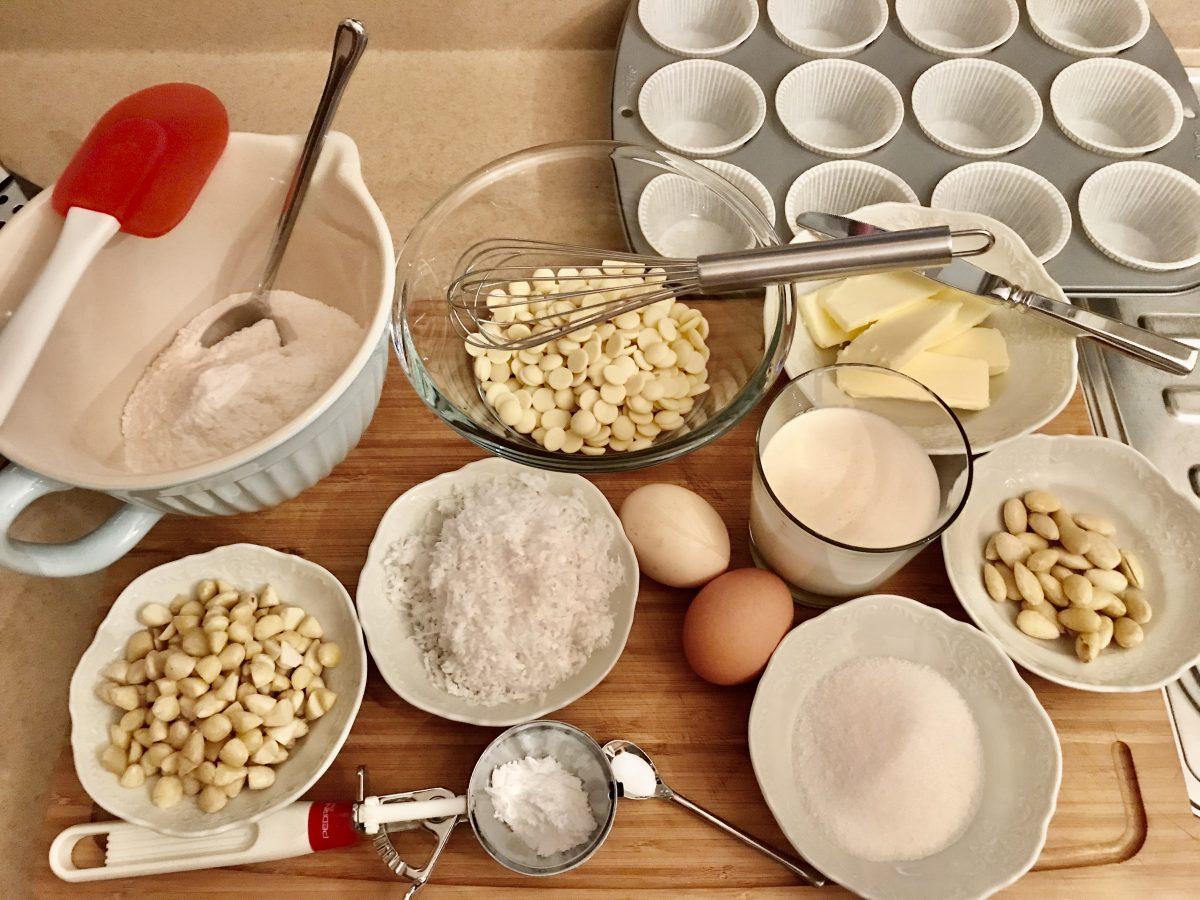 Muffin rafaelo suroviny