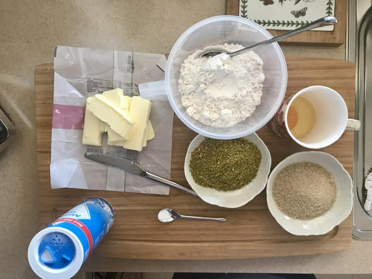 Pistáciové cookies příprava