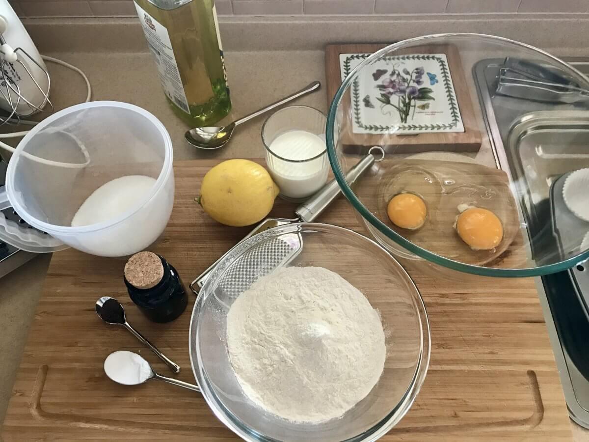 cupcake s karamelovým krémem příprava