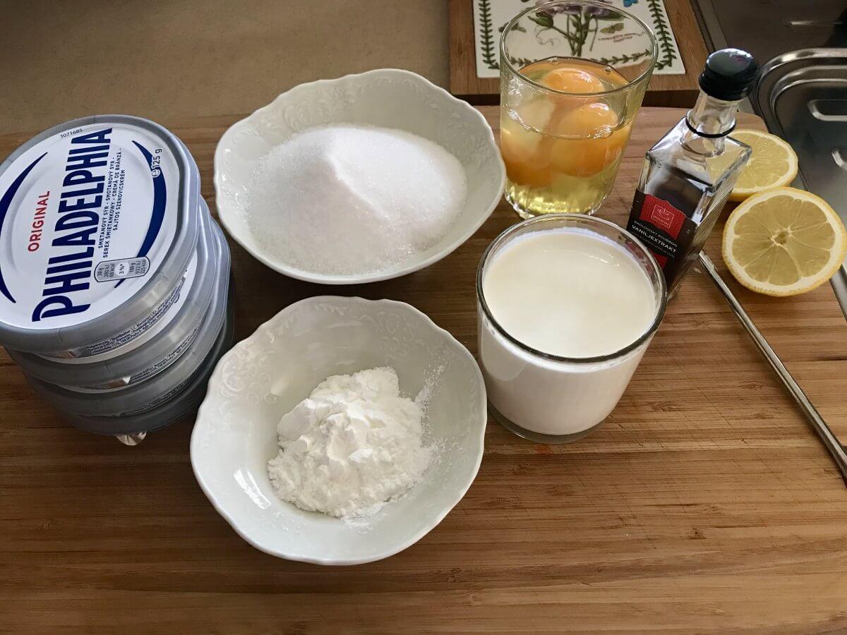 NY cheesecake suroviny-krém