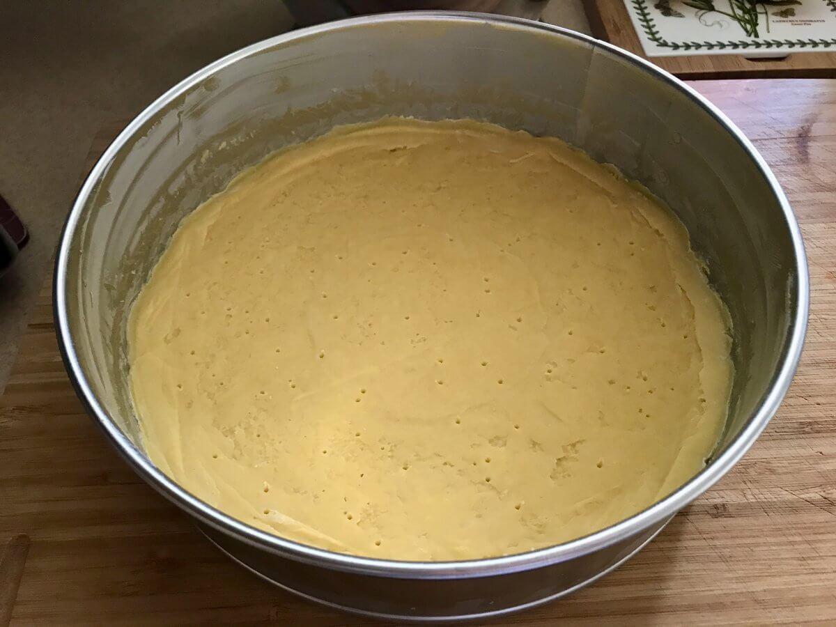 NY cheesecake těsto