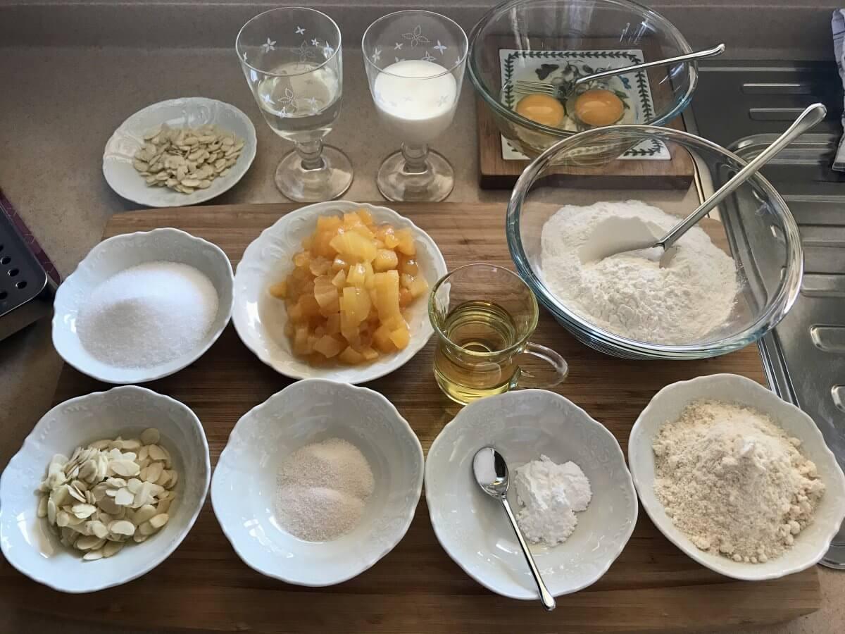 Muffiny s meruňkami suroviny