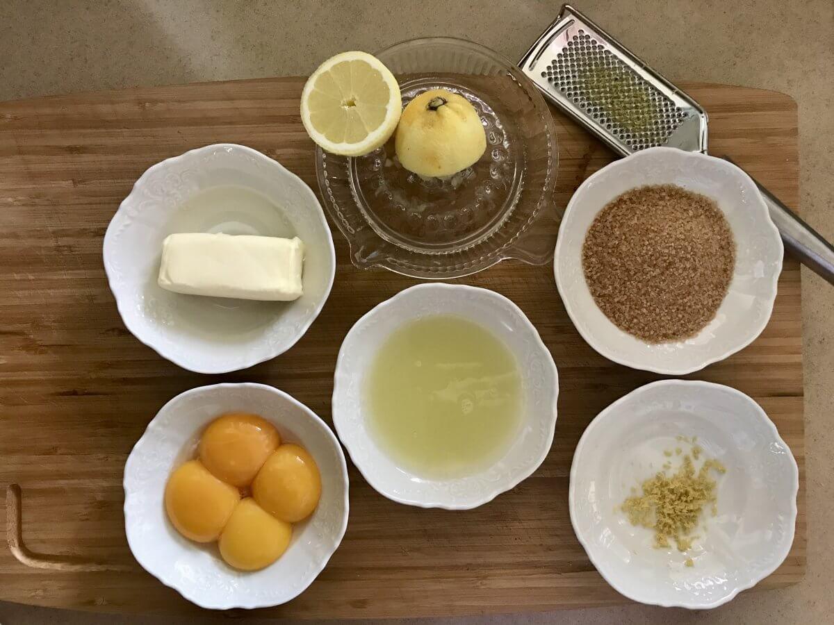 Lemon curd suroviny