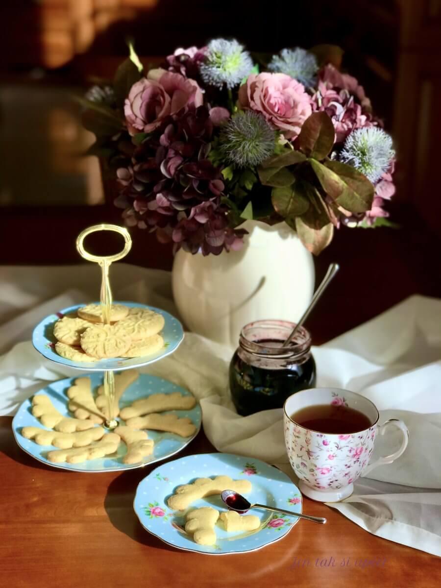 Máslové-mandlové sušenky závěr