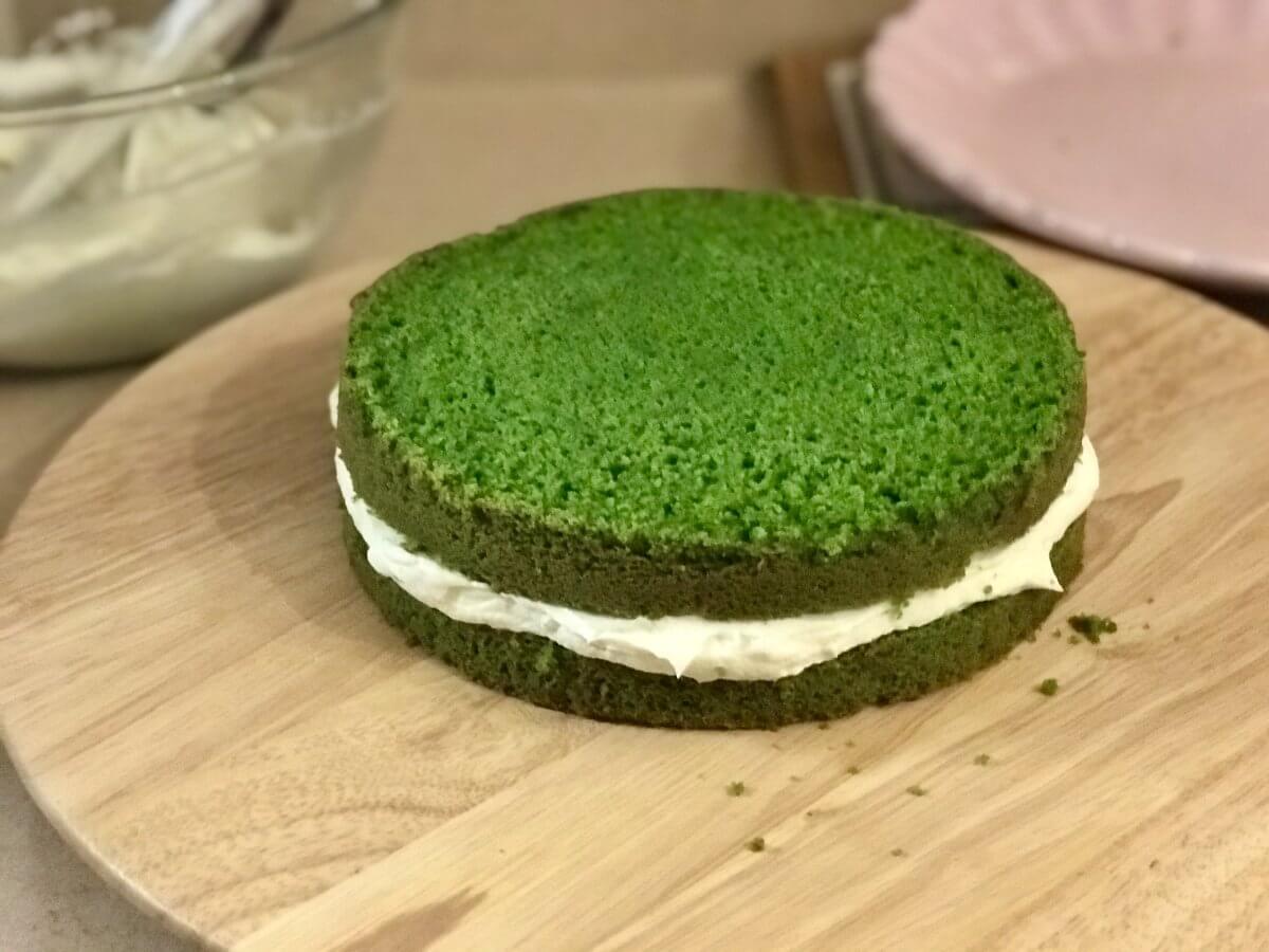 Mechový dort dokončení2
