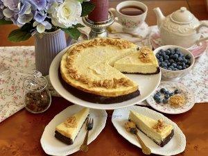Tvarohový koláč s kokosem a bílou čokoládou závěr2