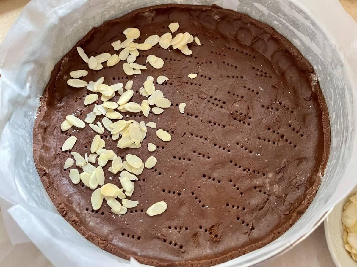 Tvarohový koláč úprava těsta 2